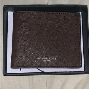 Brown leather Michael Kors wallet